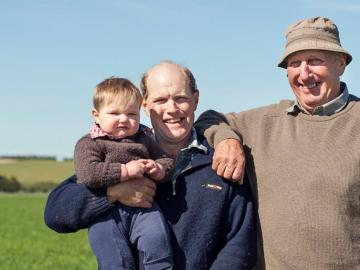image of farming family
