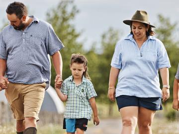 image of farming family